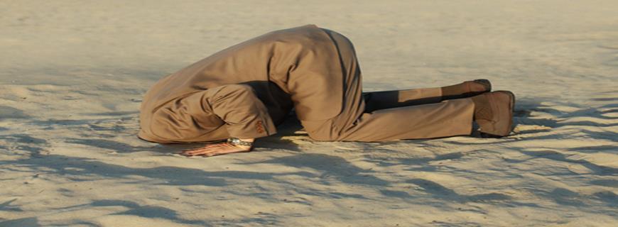 Steekt u uw kop in het zand?